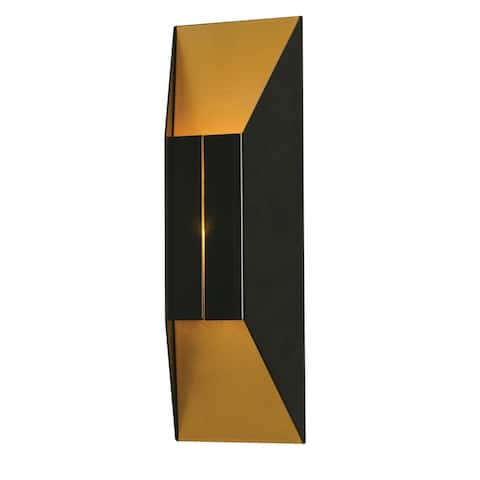Summit 1-light ADA Black and Gold LED Wall Sconce