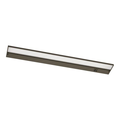 Koren 22-inch Rubbed Bronze LED Under Cabinet, White Polycarbonate Shade