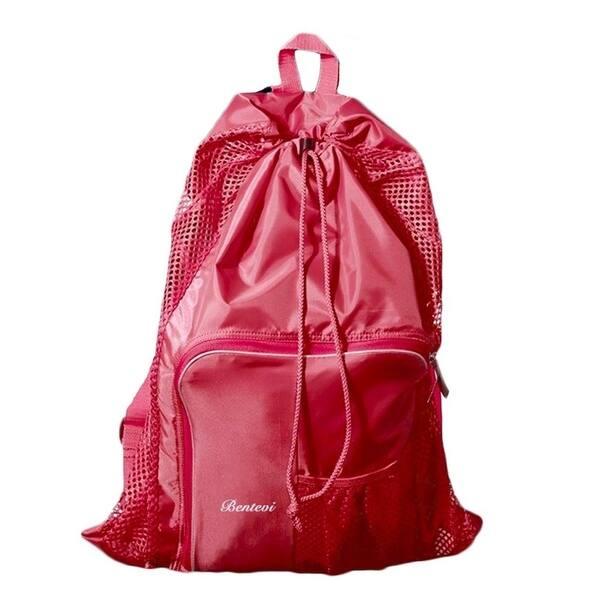 Swimmers Mesh Beach Bags Backpack Equipment Drawstring