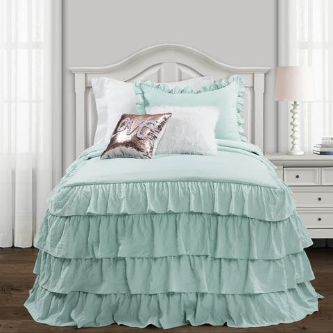 Lush Decor Allison Ruffle Skirt Bedspread Set
