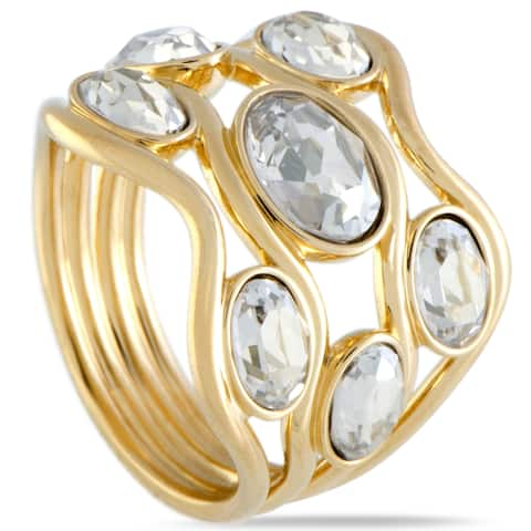 Swarovski Yellow Gold Plated Clear Crystal Fragment Ring 5224894