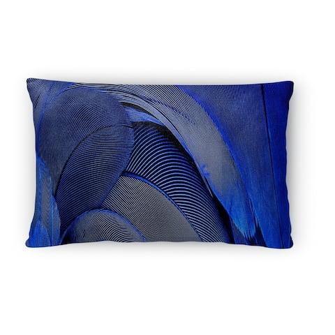 Silver Orchid Sebastian Blue Lumbar Pillow