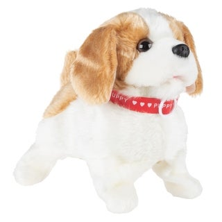 Interactive Plush Puppy Toy Walks, Barks and Does Back Flips by Happy Trails