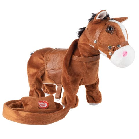 Animated Plush Horse Toy Sings a Cowboy Song & Dances by Happy Trails