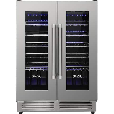 Thor Kitchen - 42 Bottle Dual Zone Built-in Wine Cooler