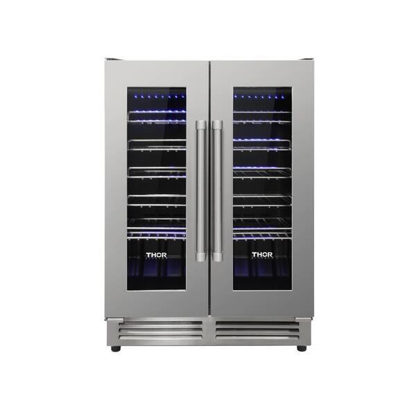 Shop Thor Kitchen - 42 Bottle Dual Zone Built-in Wine Cooler ...