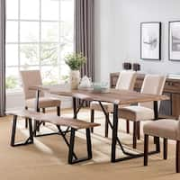 Harper Blvd Lakeith Modern Eclectic Natural Wood Metal Dining Table - Natural / Black