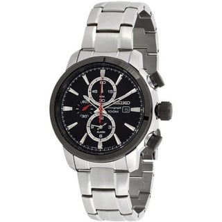 Link to Seiko Men's Chronograph Stainless Steel Quartz Watch SNAF47 Similar Items in Men's Watches