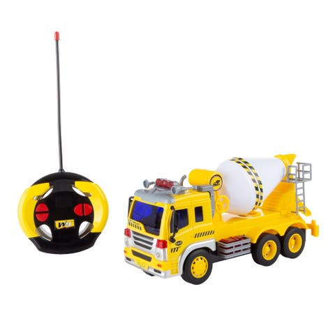 Remote Control Cement Mixer Truck Hey! Play!