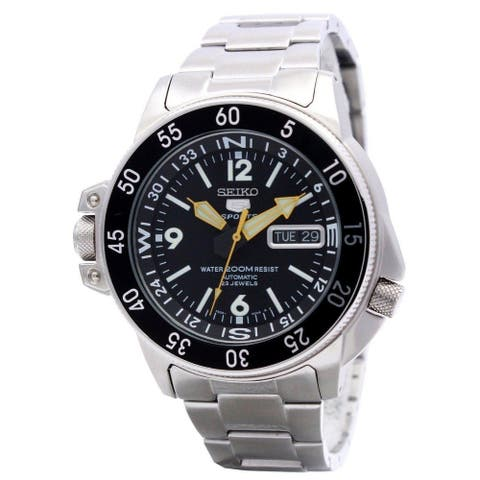Seiko Men's Series 5 Stainless Steel Automatic Watch SKZ211
