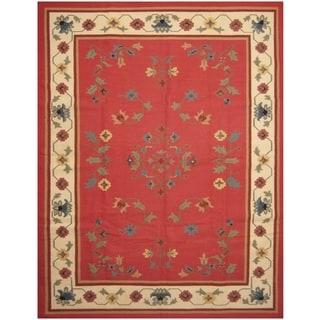 Handmade One-of-a-Kind Wool Kilim (India) - 9'1 x 12'