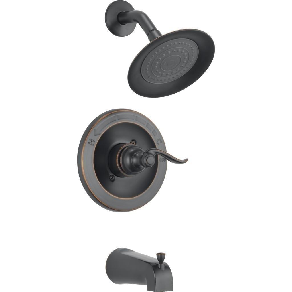 Delta Windemere Monitor 14 Series Tub Shower Trim Bt14496 Ob Oil Bronze