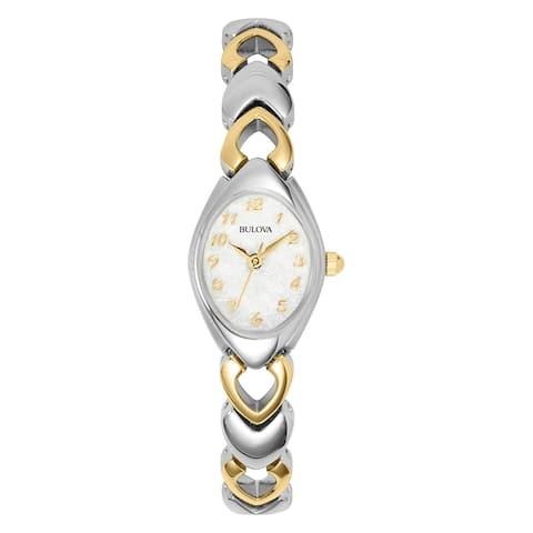 Bulova Women's 98V02 Two-tone Stainless MOP Dial Bracelet Watch