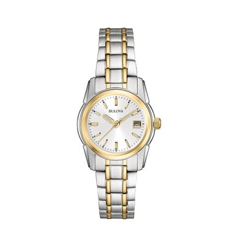 Bulova Women's 98M105 Two-tone Stainless Calendar Date Bracelet Watch