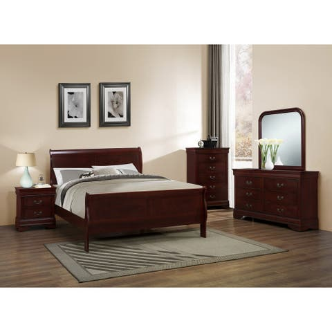 Copper Grove Rosendal Classic Louis Philippe Cherry Bedroom Set