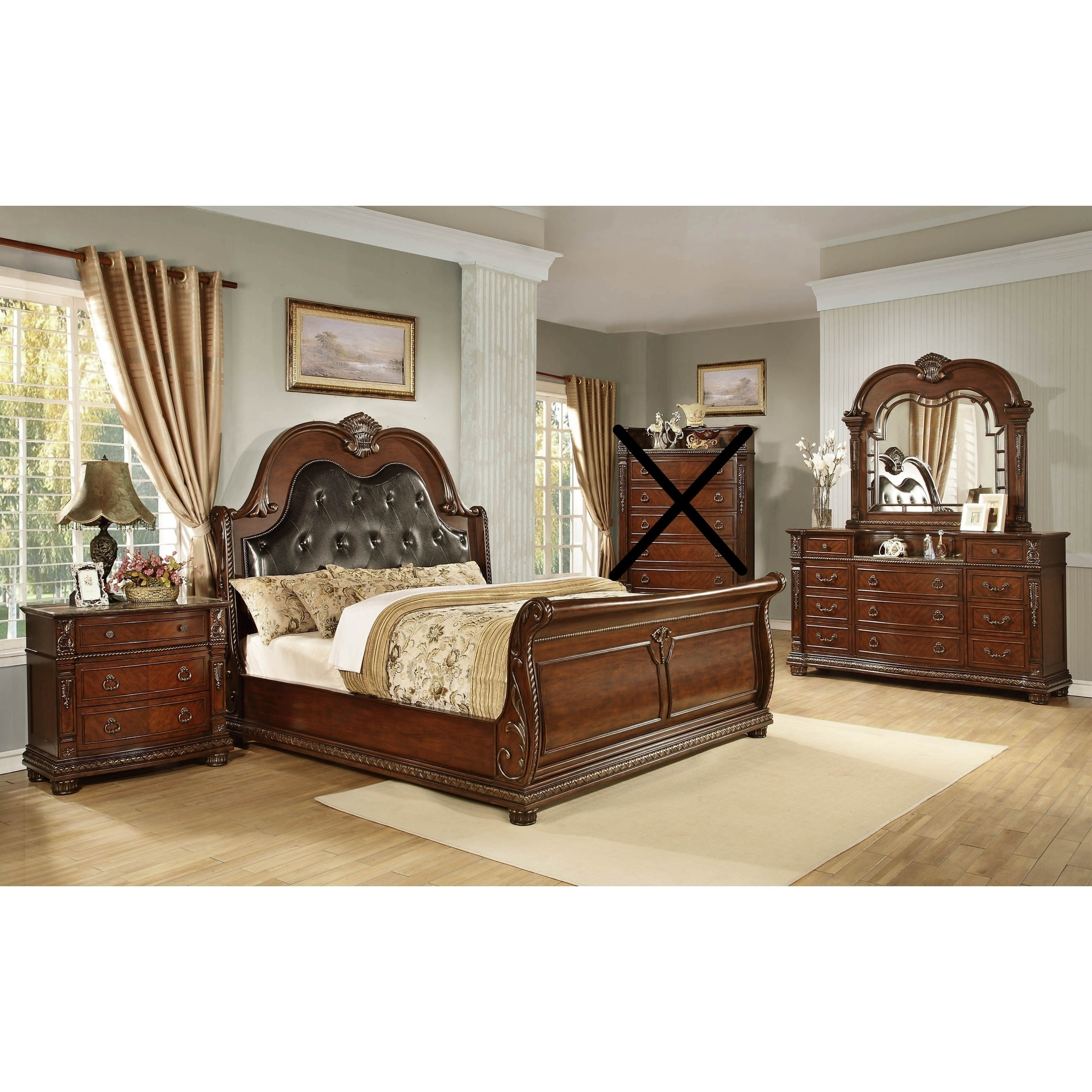 Traditional Style Palace Queen King Bedroom Set