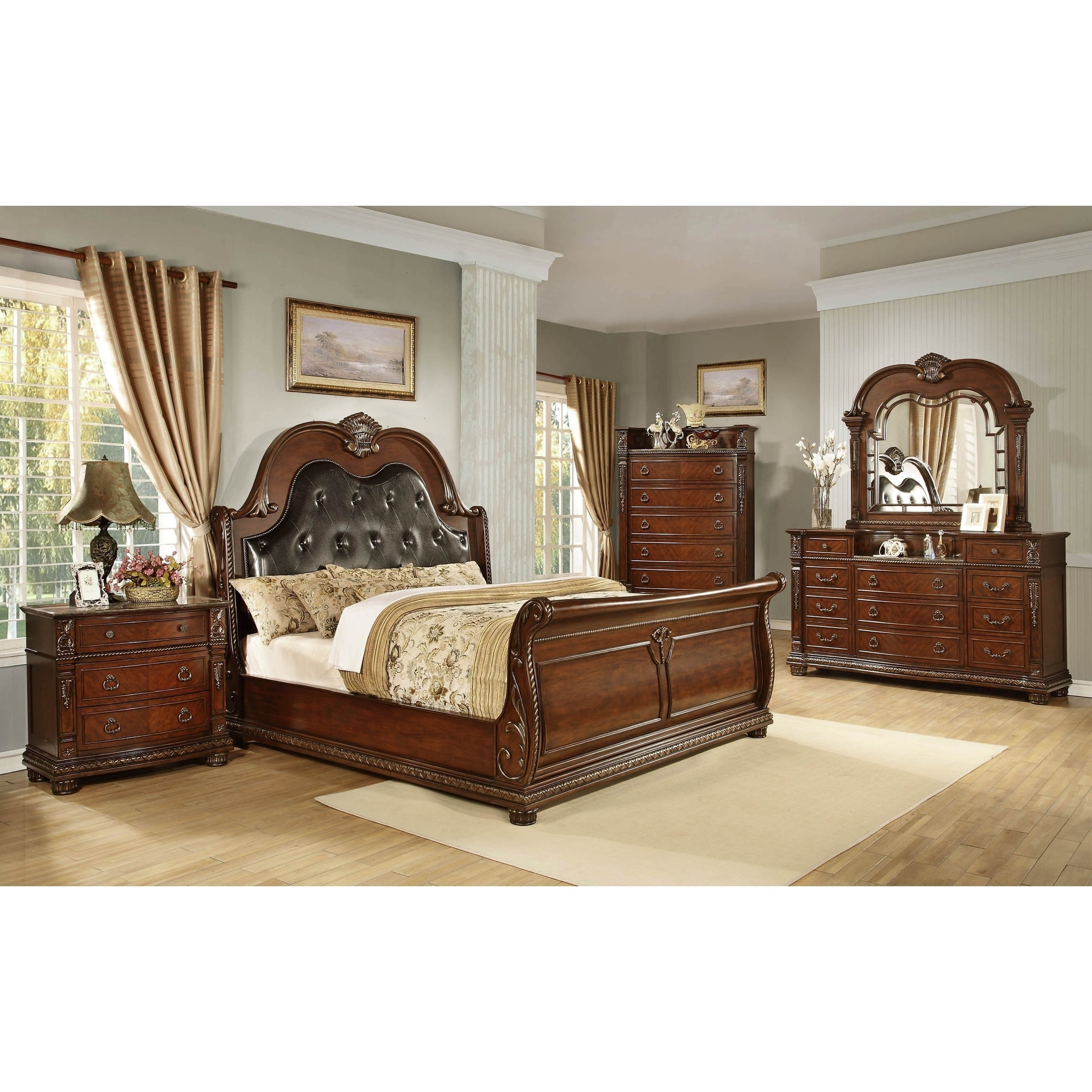 Shop Traditional Style Palace Queen King Bedroom Set Overstock