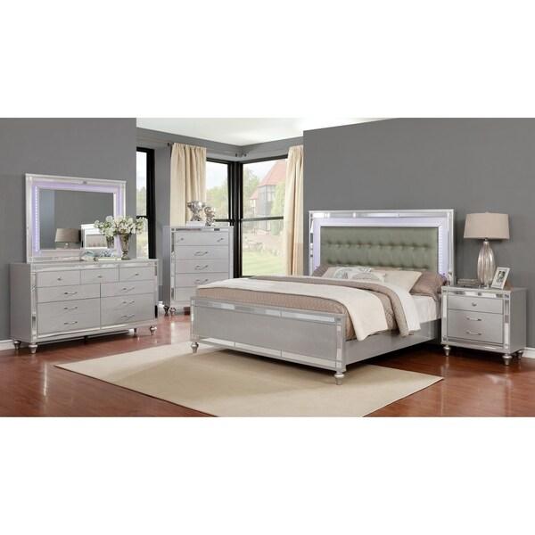Home Goods Bedroom Furniture: Shop Wooden Grey/Silver Queen/King Bedroom Set