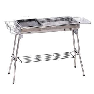 Outsunny Stainless Steel Portable Charcoal BBQ Grill