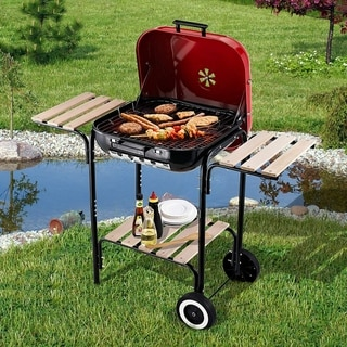 Link to Outsunny Steel Portable Outdoor Charcoal Barbecue Grill Similar Items in Grills & Outdoor Cooking