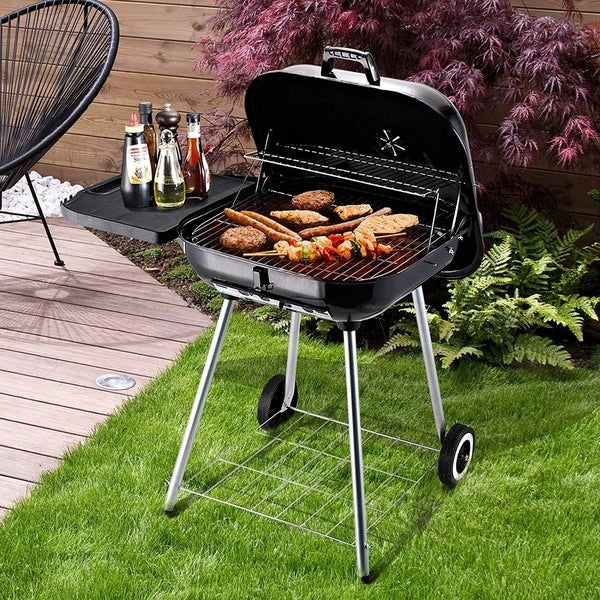 Shop Outsunny Steel Portable Outdoor Charcoal Barbecue ...