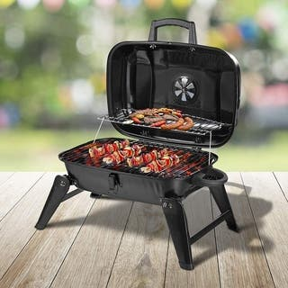 Outsunny Portable Outdoor Tabletop Charcoal Grill