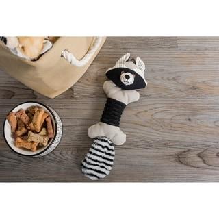 DII Squeaker Canvas Pet Toy (Bone/1 - Roscoe Raccoon)