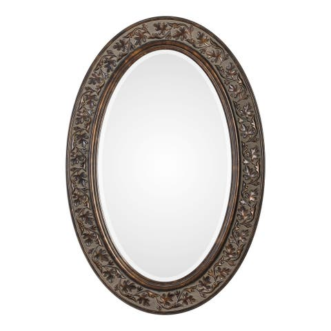 Find Bronze Antique Gold Oval Mirror