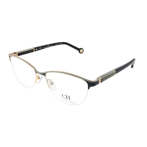 Carolina Herrera VHE 79K SNQ Womens Black and White Frame 53mm Eyeglasses