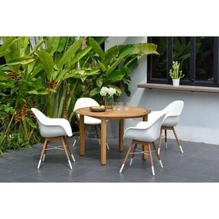 Amazonia Eucalyptus/Teak Finish Kailua 5-piece Round Patio Dining Set