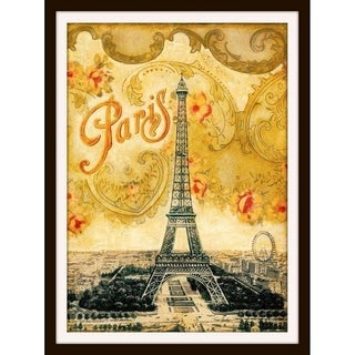 Paris Eiffel Tower French Europe Vintage Travel Advertisement Poster