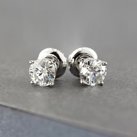 Ethical Sparkle 1/4ctw Round Lab Grown Diamond Stud Earrings 14k Gold