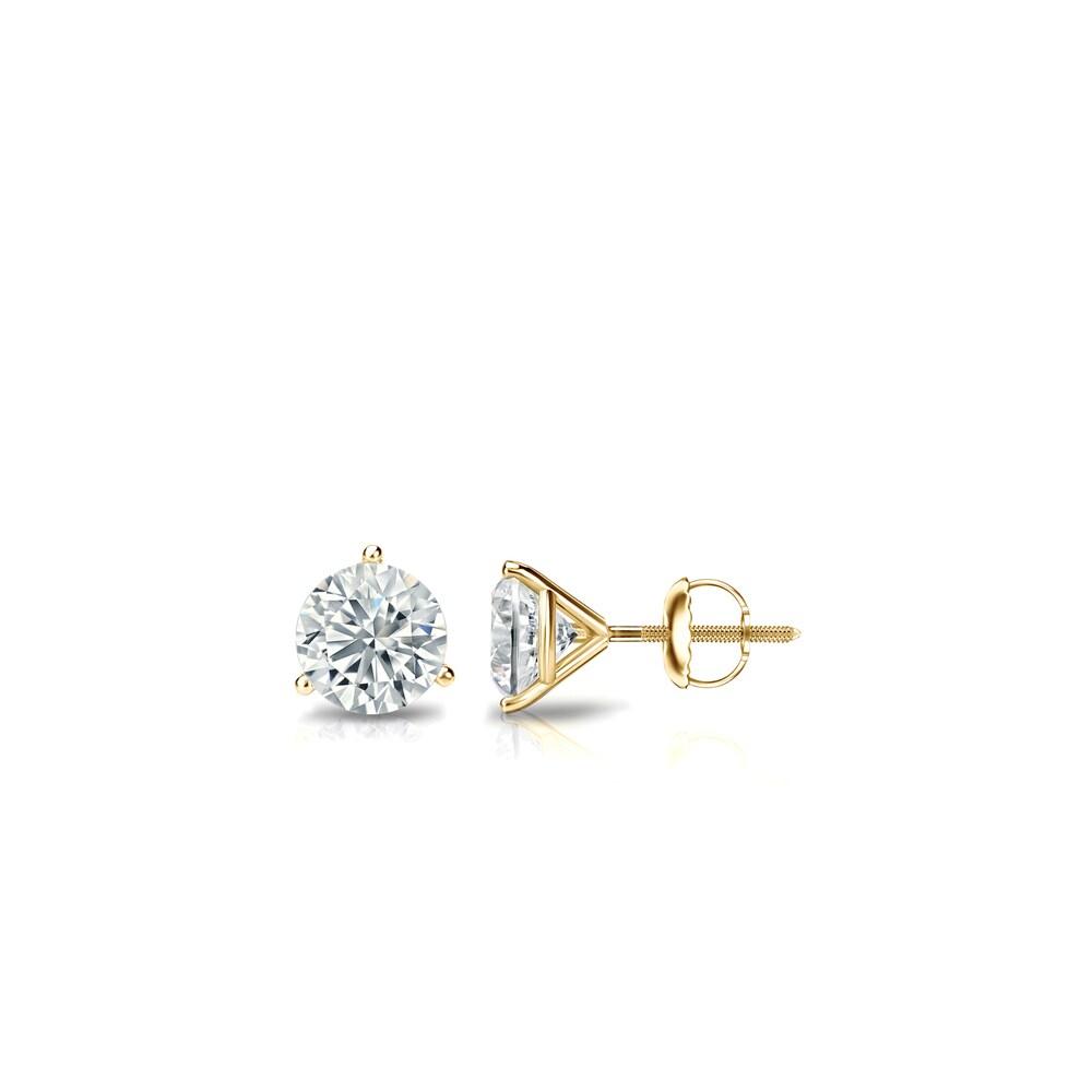 Ethical Sparkle 1/4ctw Lab Grown Diamond Stud Earrings