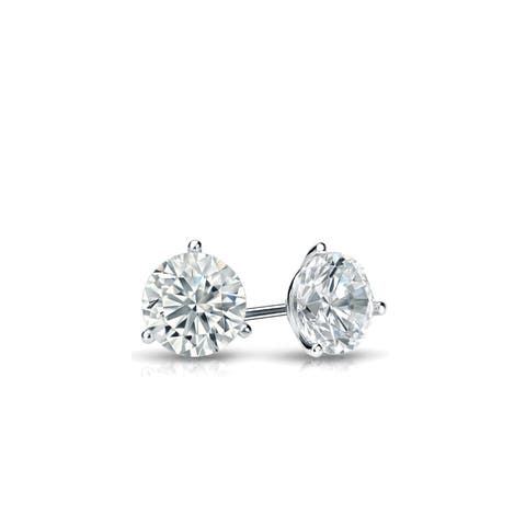 Ethical Sparkle 1/4ctw Lab Grown Diamond Stud Earrings 14k Gold Martini Set