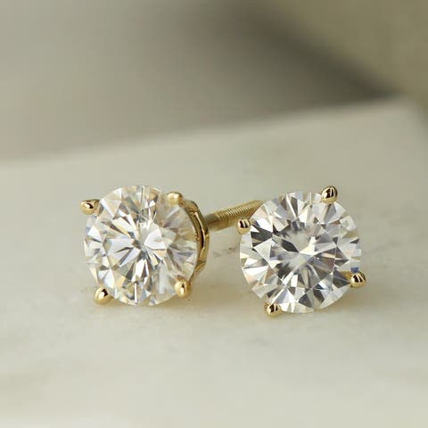 Round 1ctw Lab Grown Diamond Stud Earrings 14k Gold by Ethical Sparkle