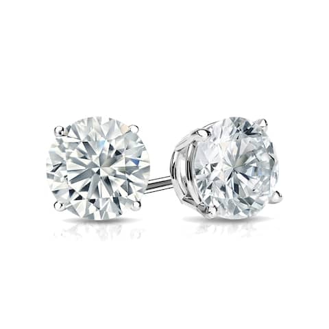 Ethical Sparkle 1ctw Round Lab Grown Diamond Stud Earrings 14k Gold