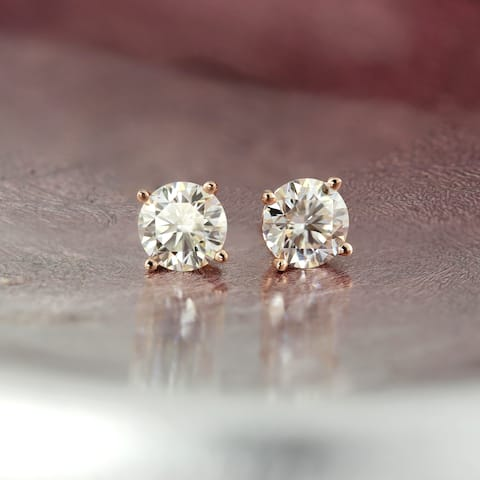 Ethical Sparkle 3/4ctw Round Lab Grown Diamond Stud Earrings 14k Gold
