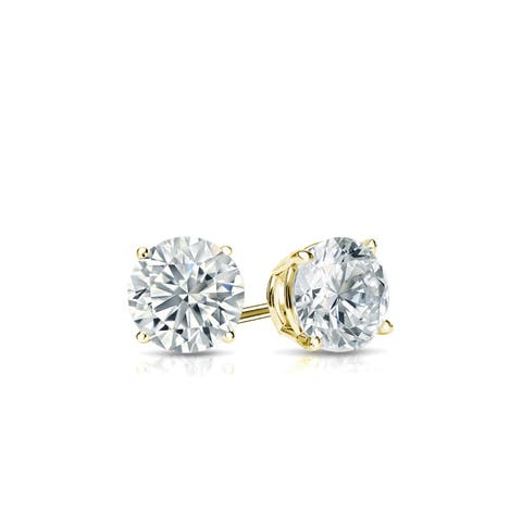 Ethical Sparkle 1/3ctw Round Lab Grown Diamond Stud Earrings 14k Gold