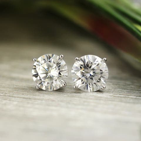 14k Gold 1 3/8ctw Round Lab Grown Diamond Stud Earrings by Ethical Sparkle
