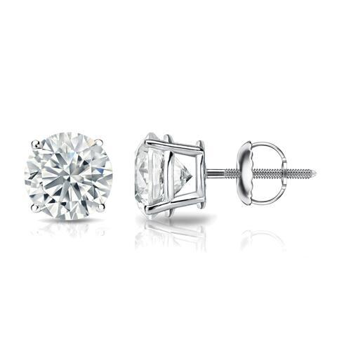 Ethical Sparkle 1 3/8ctw Lab Grown Diamond Stud Earrings 14k Gold