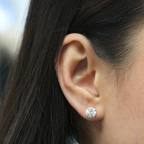 Round 2ctw Lab Grown Diamond Stud Earrings 14k Gold by Ethical Sparkle