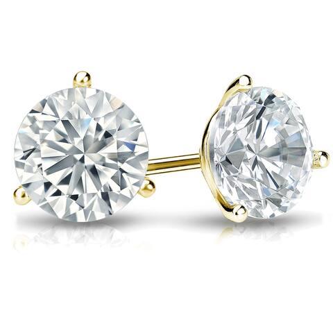 Ethical Sparkle 2ctw Lab Grown Diamond Stud Earrings 14k Gold Martini Set