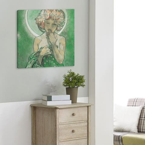 Alphonse Mucha Moon Star Gallery-Wrapped Canvas