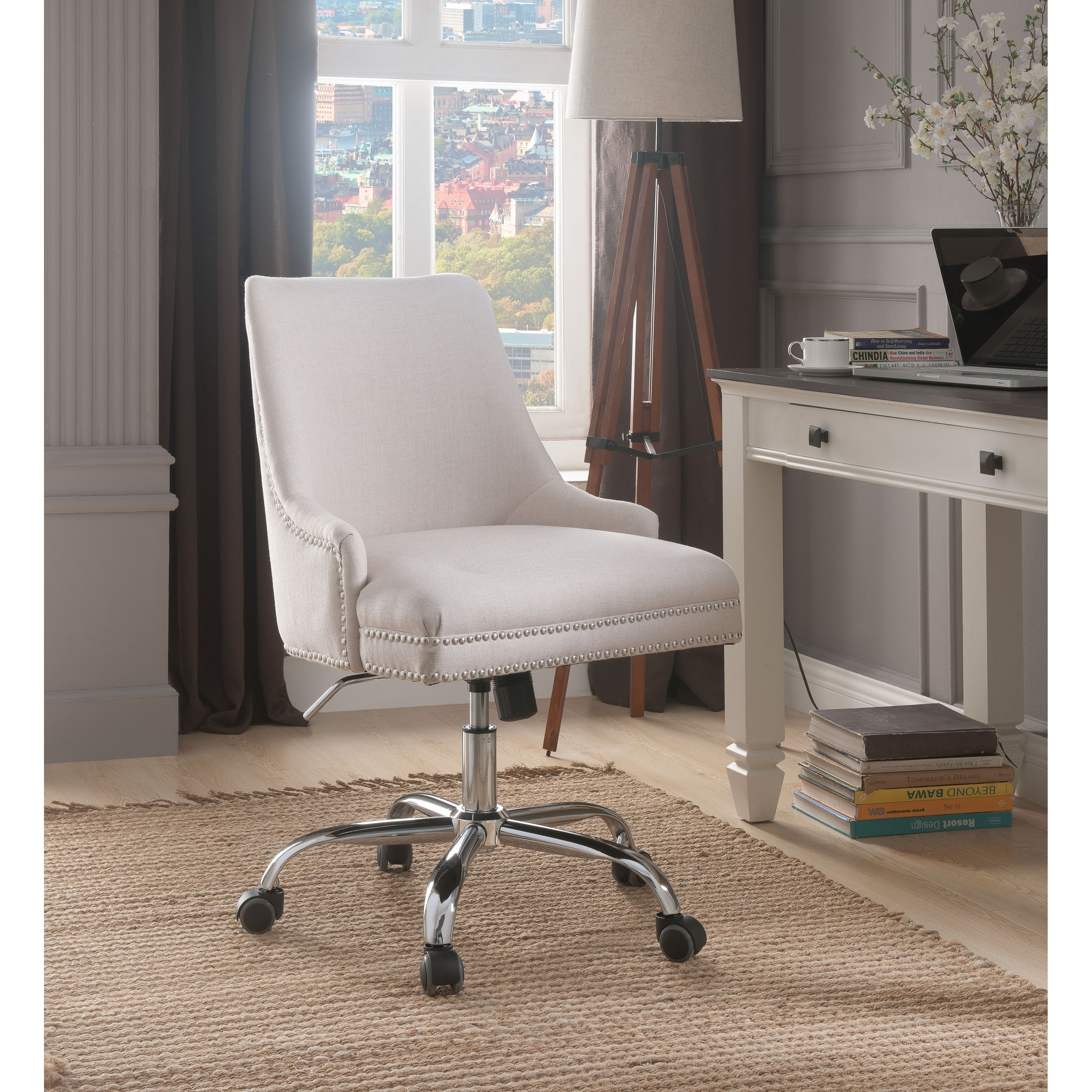 Plush Velvet Executive Office Chair Lift Up Business Computer Swivel Chairs Seat