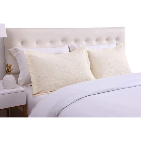 Porch & Den Manor Embroidered Pillow Sham (Set of 2)