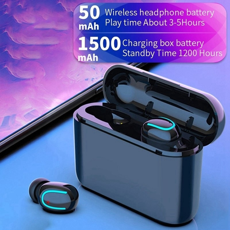 True Wireless Bluetooth 5 0 Earbuds Waterproof TWS Headset Headphone with  Charging Case Sound Quality Auto-pairing Earbuds