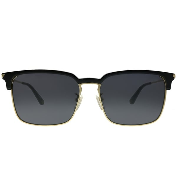Police Empire 2 SPL 576E 300 Black Plastic on Gold Metal Sunglasses Grey Lens