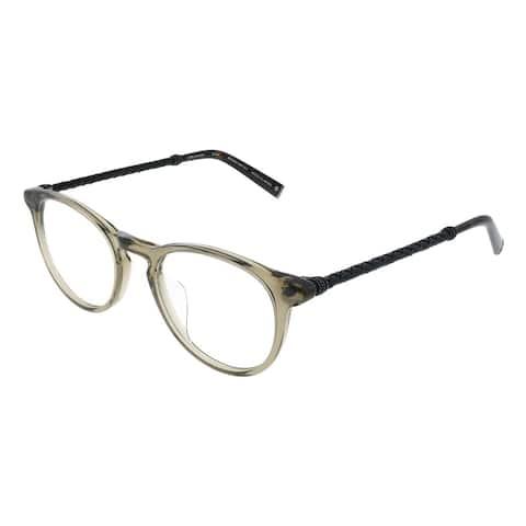 John Varvatos JV V401 SMO Unisex Smoke Crystal Frame Eyeglasses 49mm