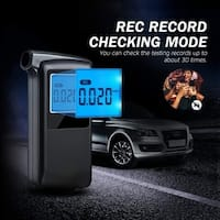 Professional Breathalyzer with 6 Modes Portable High-precision Alcohol Tester Digital Breath Analyzer with Extra 20 Mouthpieces