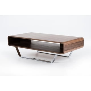 Modrest Avis Walnut Matte Coffee Table